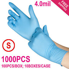 1000/Case Disposable Powder-Free Nitrile Medical Exam (Latex Free) Gloves -Small