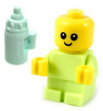 NEW LEGO BABY w/Bottle minifigure furniture figure infant minifig 60202 green