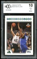 2008-09 Topps #200 Kevin Love Rookie Card BGS BCCG 10 Mint+