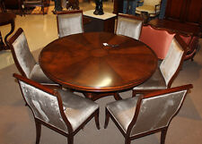 Gorgeous Flame mahogany Conference Breakfast Dining Table 72 inches Round