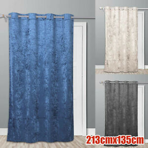 Thermal Door Curtain Prevents Winter Heat Loss Reduces Draughts Self Lined Crush
