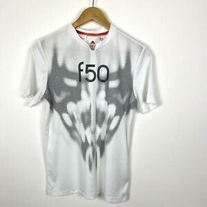 Adidas Top Large Youths 13-14 Years White Silver F50 Shirt Sports Boys Kit