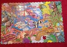 Moving Puzzle Coral Reef 1 Missing Piece Great American Factory Ocean Fish #9802