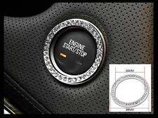 Auto Car Engine Push Start Stop Ignition Button Diamante Ring