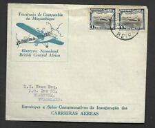 MOZAMBIQUE, 1ST FLIGHT FROM BEIRA TO BLANTYRE ILLUSTRATED COVER, SCARCE