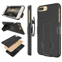 SLIM SHELL HOLSTER BELT CLIP COMBO SHOCKPROOF HYBRID CASE COVER WITH KICKSTAND