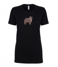 More details for chow chow leopard print t-shirt gift idea dog ladies top