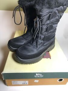 Spring Step Zurich Snow Boots NIB Womens Size 8.5 Waterproof Lined Black