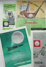 Original VINTAGE 1951 Golf ball adverts from Saturday Evening post