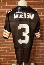 Derek Anderson Signed Cleveland Browns #3 New Reebok NFL Nylon Jersey Mens Large