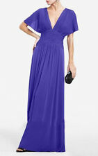 BCBG Max Azria ~ Purple Chiffon Flutter Sleeve Lace Back Formal Gown S NEW $398