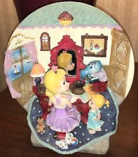 Lighted Musical Water Fountain Vanity Bobblehead Plate Sisters Dog Cat Figurine