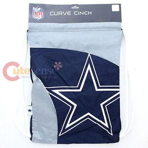 NFL Dallas Cowboys  Curve Cinch Bag Sling Sack Team Logo Drawstring Backpack