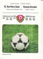 FDGB-Pokal 85/86 Dynamo Dresden - FC Karl-Marx-Stadt, 20.12.1985