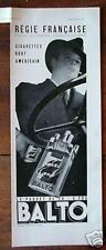 Orig 1932 Advert BALTO Cigarettes MAN Smoooooooth!!!