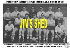 PRESTON NORTH END F.C.TEAM PRINT 1960 (MILNE/ELSE/DUNN)