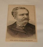 1885 magazine engraving ~ DANIEL MANNING, Secretary of Treasury