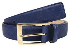 NWT GUCCI $340 MENS LEATHER DIAMANTE EMBOSSED GG BELT SIZE 100 40 MADE IN ITALY