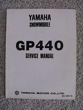 Rare Yamaha Snowmobile Gp440 Service Manual Used