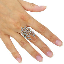 Real Pave Diamond Designer 925 Sterling Silver Fine Ring Fashion Jewelry QY