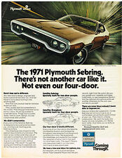 Vintage 1971 Magazine Ad For Plymouth Sebring Specially Built & Sony Television