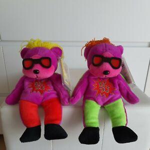 """SKANSEN BEANIE KIDS """"DJ The Bear"""" MINT W TAGS BK292 Common + Mutation"""