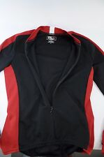 RLX Polo Sport Ralph Lauren Red Black Long Sleeve Women's Cycling Jersey Small