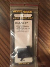 Weaver Pivot Mount Base #136 -NOS- BSA, Enfield, Remington, Weatherby