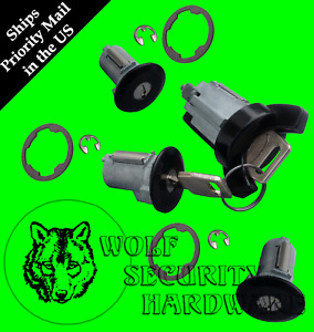 Ford Bronco II 84-90 Ignition & Door & Rear Lock Key Cylinder Set BLACK 2 Keys