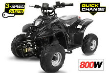 *XXL Motor* 800Watt Elektro Quad für Kinder Bigfoot 3 Stufen Drossel Kinderquad