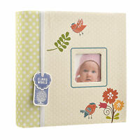 Unisex Baby Memo Slip In Photo Album With Window and 200 6x4'' Photos AL-9764