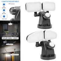 40+40LED Solar Wall Light Motion Sensor Waterproof Outdoor Night Lamp Lantern