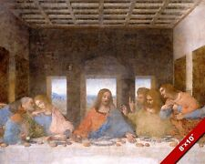 THE LAST SUPPER OF JESUS CHRIST LEONARDO DA VINCI PAINTING ART REAL CANVAS PRINT