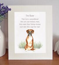 Boxer BESTEST CHUM Novelty Dog Poem Rhyme 8 x 10 Picture/10x8 Print Fun Gift