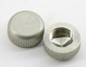 """3/8"""" Female Thread Stainless Steel Cap Covers - Pair - USED V15"""