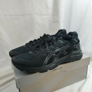 New Asics men's gel kayano 23 black onyx carbon running shoes size 8 US