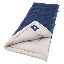 "Coleman Brazos 75"" x 33"" Rectangle Sleeping Bag Navy/Beige 2000004419"