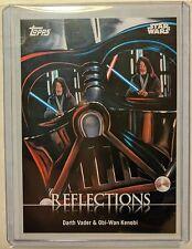 Star Wars Card Trader Physical Card: Reflections #R-2 Darth Vader Obi-Wan Kenobi