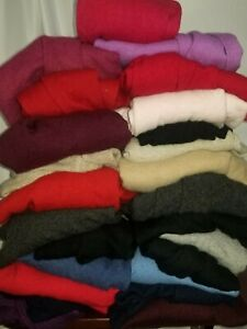 Lot of 25 100% Cashmere Sweaters some good Cutter Lot Upcycle 18 Lbs sustainable