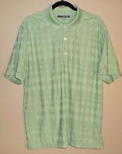 Greg Norman Men's Large Green Golf T Shirt Play Dry Technology