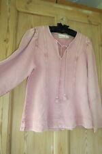 Anthropologie Maeve Pink Jeanne Puff Sleeve Sweatshirt Top Sz XL