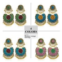 Indian Ethnic Bollywood Women Gold Bohemian Vintage Dangle Drop Antique Earrings