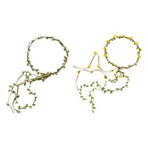 Femmes Bande de Cheveux Couronne Fleur Serre-tête Couvre-Chef Accessoire Mariage