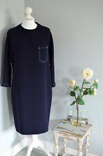 *RECENT* JAEGER Navy blue pocket front shift fit dress 12