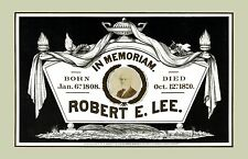 IN MEMORIAM Confederate General Robert E. Lee 1808 - 1870 Fine Art Print