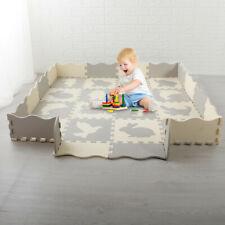 "Baby Play Mat Gym 16 Tiles 55"" Kids Soft Interlocking Foam Floor Puzzle Playmat"
