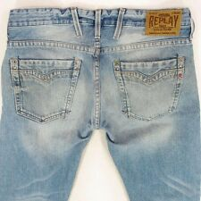 Mens Replay M955 BILLSTRONG Bootcut Relaxed Fit Blue Jeans W32 L32