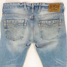 Hommes replay M955 Billstrong bootcut bleu de coupe décontractée jeans W32 L32