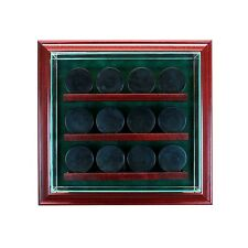 12 Hockey Glass Cabinet Display Case New UV Puck NHL FREE SHIPPING