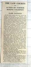 1938 Boxing Champion Of Scotland David Forbes Awarded £4,400 Damages, Libel